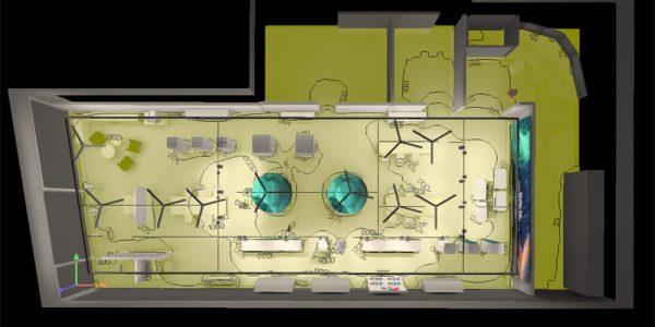 Valaistussuunnittelu dialux-simuloinnit